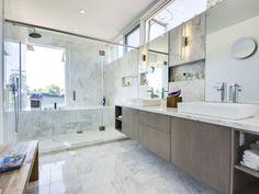 Ablagefläche im Badezimmer-Einbau-regalen Wand-Optik Marmor-Fliesen