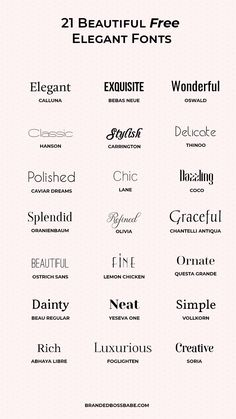 20 Beautiful and free elegant fonts — Ana Amelio – Expolore the best and the special ideas about Logo branding Graphic Design Fonts, Graphic Design Inspiration, Typography Design, Font Logo Design, Fashion Typography, Typography Poster, Elegant Logo Design, Elegant Designs, Typography Wallpaper