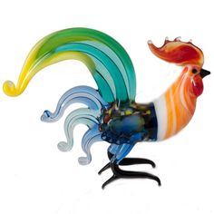 New Products. Blown Glass Fighting Rooster Figurine is a hand-created figurine which is ma... http://russian-crafts.com/glass-figurines/glass-birds/fighting-rooster-figurine.html