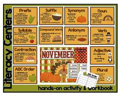 November Literacy Centers POSTED...