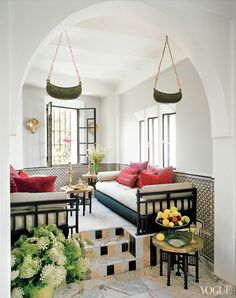 Check Out 43 Charming Moroccan Living Room Design Ideas. Today we'll talk about Moroccan or Morocco-inspired living rooms which are the best examples of the Eastern style. Moroccan Interiors, Moroccan Decor, Moroccan Style, Moroccan Kitchen, Moroccan Room, Moroccan Design, Design Marocain, Vogue Home, Elle Decor