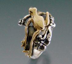 Tree Frog Bimetal Ring by SheppardHillDesigns on Etsy