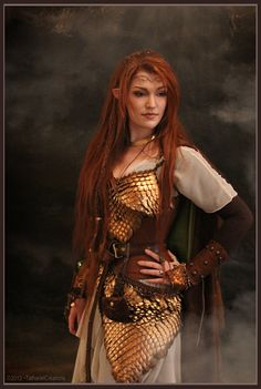 """myelvenkingdom: My self-made elven warrior outfit worn at """"HobbitCon"""" :)Photographer: The Viking Queen - Great job on the cosplay. Elf Cosplay, Elf Costume, Costume Ideas, Viking Queen, Elven Queen, Warrior Outfit, Elf Warrior, Elfa, Fantasy Costumes"""