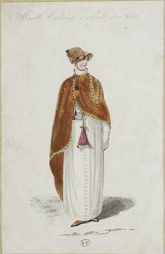 Dark orange cape and tiny reticule - 1809