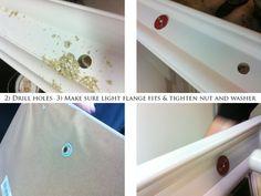 DIY lighted makeup mirror » mphoto.co