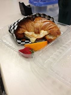 Breakfast sandwich on croissant #ToGo MERK CITY | Yelp www.christophergarrens.com