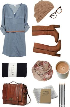 """denim dress"" by mikazuki-usagi on Polyvore"