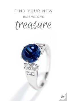 Half Eternity Ring 18ct White Gold//925 Silver Sapphire Affici Boxed Gift For Her