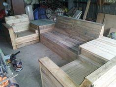 DIY Pallet Sofa Set | 99 Pallets