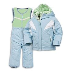 Columbia Infant Snow Fairy II Snowsuit 2 Pc Jacket and Overall Set - Blue for $125.00