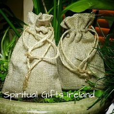 Jute Burlap Cotton Gift Bag. If you're looking for a more natural alternative to velvet or organza bags for your crystals then you'll love our Eco friendly mini Jute Sacs.  The natural fibres used allow your crystals to breath and act as a natural energy shield protecting them from negativity and electromagnetic energy. Each bag is 95mm (width) x 140mm (height) in size. Shop now www.spiritualgiftsireland.com Follow us on www.facebook.com/spiritualgiftsireland…