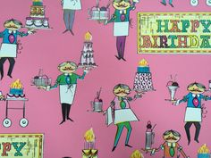 Vintage Gift Wrapping Paper Baker's Man by TheGOOSEandTheHOUND