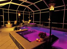 Awesome LED lighting by Coast to Coast Pools of Sarasota, a client of Kimes Engineering. http://www.kimesengineering.com http://www.coasttocoastpools.net