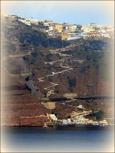 Santorini Steps - I rode a donkey up these steps...the most I have laughed in a long time