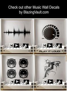 Mixing Console Sliders Wall Decal Black- FL Studio Recording Studio Music Producer Audio Waves Logic Pro by Marcos Crespo for Blazing Vault - intromedia filming and photos - Music Studio Decor, Home Studio Music, Home Studio Setup, Wall Stickers, Wall Decals, Waves Audio, Sound Waves, Home Music, Audio Room