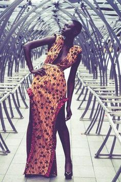 I wouldn't wear this myself, but it's  definitely inspired by African fashion. That's what makes this dress stand out. That's what makes it gorgeous. I love seeing traces of different cultures in fashion
