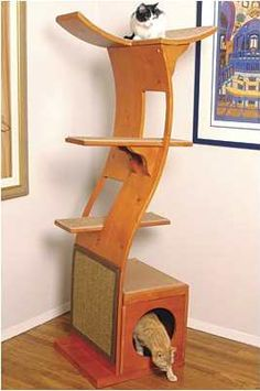 fancy cat trees | ... cherry or mahogany finishes the fancy cat tree costs $ 289 from costco