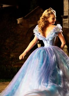 Lily James in 'Cinderella' (2015).