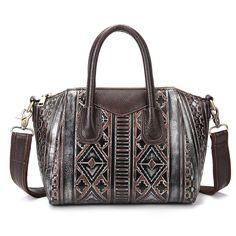 38.85$  Buy now - http://alim54.shopchina.info/go.php?t=32790085710 - Genuine Embossed Leather Women Tote Bag Luxury Handbag New Cowhide Ladies Satchel Famous Designer Brand Shoulder Messenger Bags   #magazineonlinebeautiful