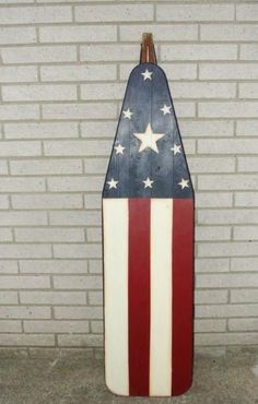 Vintage FOLK Art American Painted Flag Wood Rustic Primitive Ironing Board Old in Art, Art from Dealers & Resellers, Folk Art & Primitives | eBay