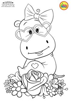 Cuties Coloring Pages for Kids - Free Preschool Printables - Slatkice Bojanke - Cute Animal Coloring Books by BonTon TV coloringpages coloringbooks cuties bojanke bontontv Farm Animal Coloring Pages, Spring Coloring Pages, Unicorn Coloring Pages, Cute Coloring Pages, Fairy Coloring, Disney Coloring Pages, Coloring Pages To Print, Mandala Coloring, Adult Coloring Pages