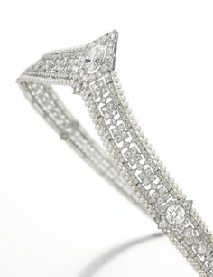 Seed Pearl and Diamond Tiara/Bandeau, Circa 1915 | lot | Sotheby's