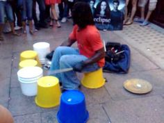 Can you picture this street drummer dressed in hospo whites to draw the crowd to your stall?