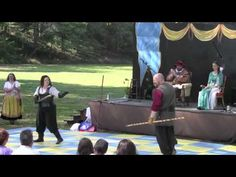 Little John (Mike Crellin) vs. Grayson of Gisborne (Annette Marin) in our human chess match at New Jersey Renaissance Faire 2010.