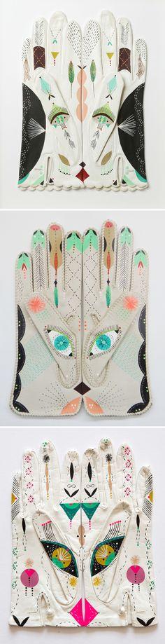 "bunnie reiss - ""cosmic animal gloves"" <3"