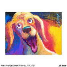 Jeff Leedy   Happy Cocker Postcard *Happy Cocker #Jeff Leedy #Art That Makes You Laugh® by Jeff Leedy #animal #dog #cat #pig # #zazzle #happy cocker #cocker spaniel #dog painting #cocker spaniel painting Postcard Art, Postcard Size, Art Nouveau, Art Deco, Cocker Spaniel Dog, Dog Paintings, Watercolor Art, Fine Art, Cats