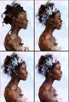 Portrait 13 Process by AaronGriffinArt.d … on … - Best Painting Acrylic 2019 Art Inspo, Inspiration Art, Arte Bar, L'art Du Portrait, Art Studies, Art Design, Painting & Drawing, Acrylic Portrait Painting, Painting Process