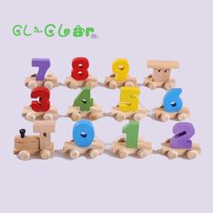 c3c856a991 New Wooden Digital Small Train Vehicle Blocks Eduactional Wooden Toy For  children Birthday gifts Montessori baby