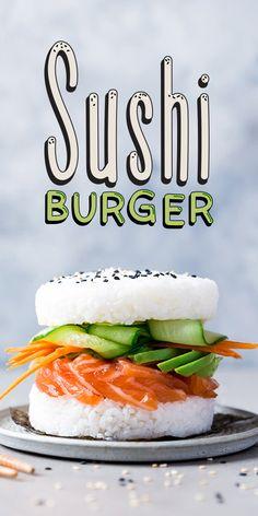 Elle voulait manger des sushis 🍣. Il voulait manger des burgers 🍔. Ils ont fait un compromis et ont essayé cette recette de sushi burger au saumon, concombre et avocat.