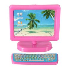 3 Pcs New Miniature Pink Computer Set Fax Machine Furniture For Barbie Dollhouse Barbie Girl Toys, Barbie Doll Set, Barbie Doll House, Little Girl Toys, Little Girl Gifts, Toys For Girls, Disney Princess Toys, Cute Headphones, Kids Indoor Playground
