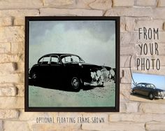 Inkscape Image on Canvas for Father's Day (from Dad's favorite Car, Truck, Boat, Bike, Tool, Hobby... photo!) // Art for the Man-cave