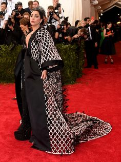 Lady Gaga in Balenciaga - Met Gala 2015 red carpet pictures | Met Ball fashion - Costume Institute Gala | Harper's Bazaar