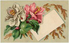 Antique Floral Label Image