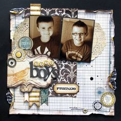 ...I love that there's a way to incorporate the GLITTER into a boy layout!!
