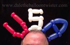 4th of July headband inspired by Alberto Nava.