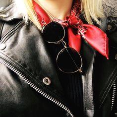 Fashion Director at ELLE, Josephine Aarkrogh, in Samsøe & Samsøe Tautou leather jacket.