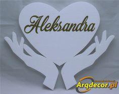 Pracownia Dekoracji ARQ - DECOR - Serduszko W Dłoniach z imionami dzieci (NA ZAMÓWIENIE) dekoracje na Pierwszą Komunię