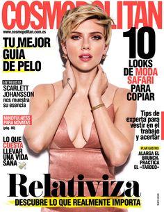 Revista #COSMOPOLITAN, #mayo 2016. ¡Relativiza, descubre lo que realmente importa! #ScarlettJohansson nos muestra su esencia. 10 #looks de #moda #safari para copiar.