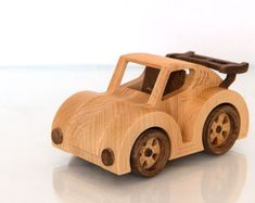 FrostyYCrafts Wooden Toy Car Jeep Wrangler by FrostyYCrafts