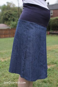 Tutorial: Converting a Skirt Pattern to Maternity Skirt