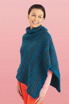 Cozy Cowl Neck #Poncho #Crochet #MichaelsStores
