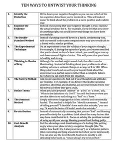 """panoramic-banana: """" sassykthulhu: """" yourpersonalcheerleader: """" How to silence negative thinking """" This is used in cognitive behavioral therapy to help you overcome the negative automatic thoughts that..."""