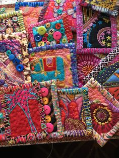 Fabric Patch, Fabric Squares, Fabric Art, Art Quilting, Fabric Postcards, Fabric Journals, Textile Fiber Art, Creative Embroidery, Textiles