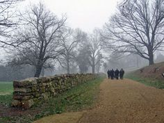 Fredricksburg, VA - the Stonewall and Sunken Road.  Pretty awesome to visit this battle site after studying the Civil War