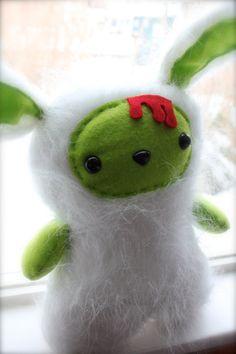 Zombie Bunny Plush by SpookyPookyCreations on Etsy, $35.00