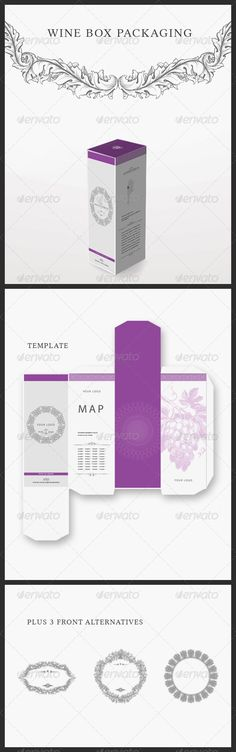Modern Wine #Packaging - Packaging Print #Templates Download here: https://graphicriver.net/item/modern-wine-packaging/2568381?ref=alena994